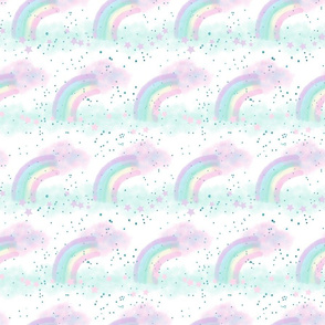Pastel Rainbow in white