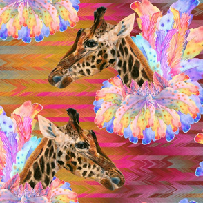 FEATHERS BOA COLLAR ON LETS GO PARTY GIRAFFES