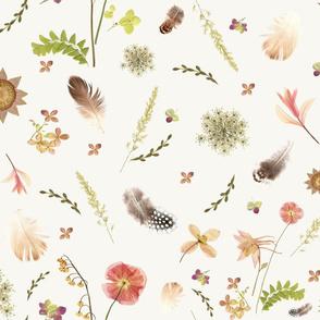 Feathers among Wildflowers