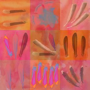 Nine Patch Feathers Orange