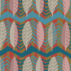 Cheveron-Feathers