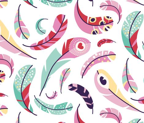 plumes fabric by lisahilda on Spoonflower - custom fabric