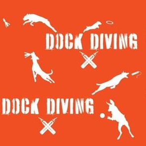 Dock Diving Text & Dogs