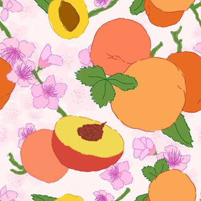 Apricot + Peach Blossom Floral