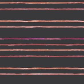 Take Flight Watercolor Stripe Raspberry on Charcoal