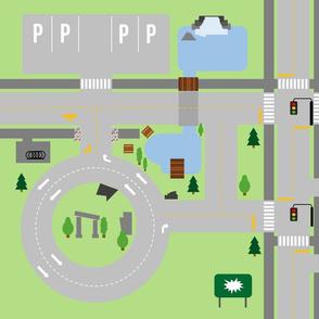 Busy roads play mat