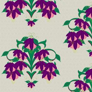 fucshia-diamond pattern background