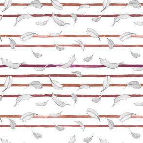 Take Flight Feather Stripe in Raspberry