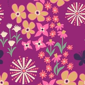 Sunburst floral