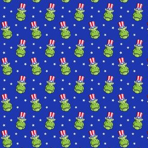 "(3/4"" scale) Patriotic Trex  - Tyrannosaurus rex dinosaur  - stars on blue LAD19BS"