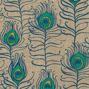 Peacock Feather Nouveau {Linen}