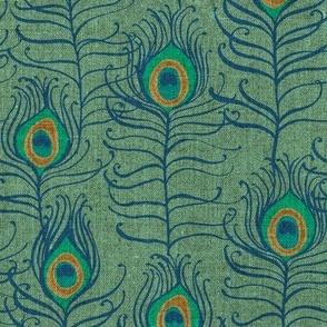 Peacock Feather Nouveau {Mint}
