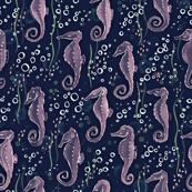 Pinky purple seahorses
