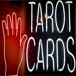 Tarot Cards Neon Sign