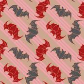 bats on pink stripes