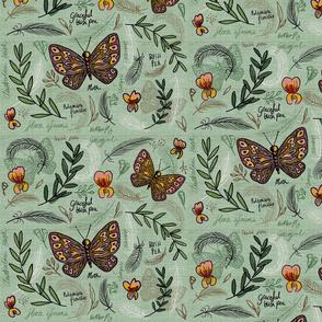 Feathered bush peas