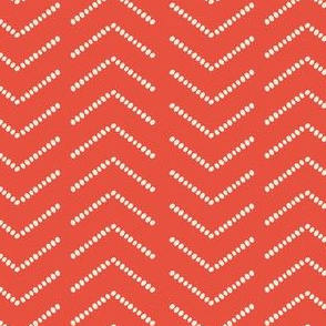 Dotted Herringbone, Rusty Orange