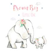 "8"" Dream Big Little One / Pink Floral Elephant"