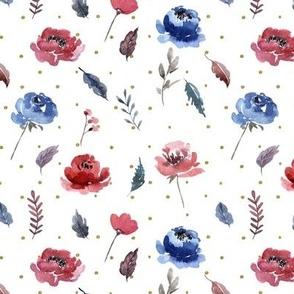 American Glory Flowers // Gold Dots
