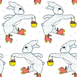 Bunnies on roller skates