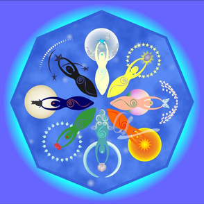 Wheel of Spiral Goddesses