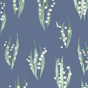Lily of the Valley Watercolor pattern