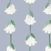 Lilies with stems and leaves pattern