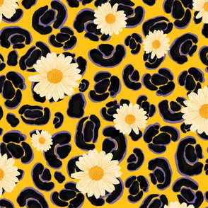 Leopard Daisy - Colorway 2