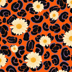 Leopard Daisy - Colorway 3