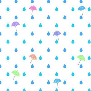 Raindrops & Umbrellas