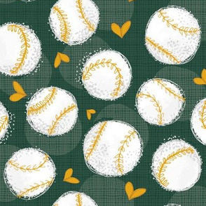 Baseball Lovers Unite! Green and Gold Medium Scale