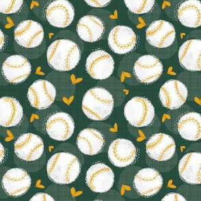 Baseball Lovers Unite! Green and Gold Small Scale