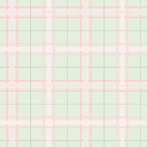 Summer Plaid: Millennial Pink & Mossy Green Plaid