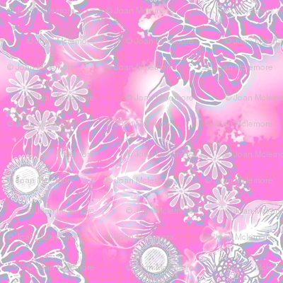 Frosted floral fuschia