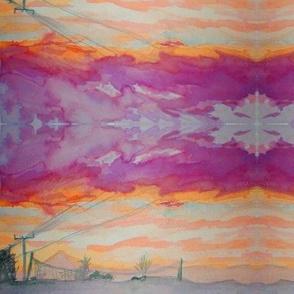 Skyline sunset sorbet
