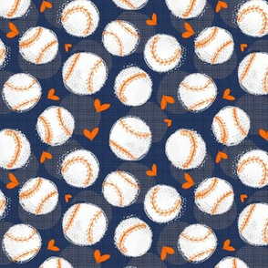 Baseball Lovers Unite! Blue and Orange Small Scale