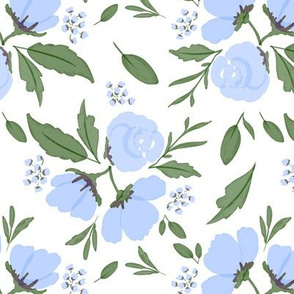 Summer Floral | Periwinkle Blue