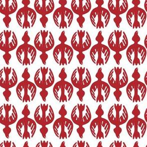 Tglingit Raven: Red on White