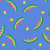 Watermelons in Racing Blue