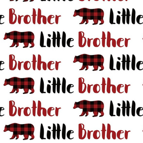 buffalo plaid bear little brother