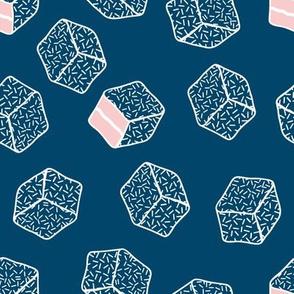 little aussie lamingtons - ocean blue + pink