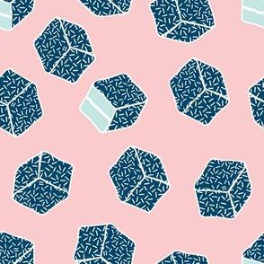 little aussie lamingtons - blush pink + ocean blue + mint
