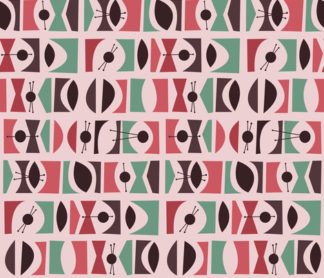 Tromen - Pink fabric by theaov on Spoonflower - custom fabric
