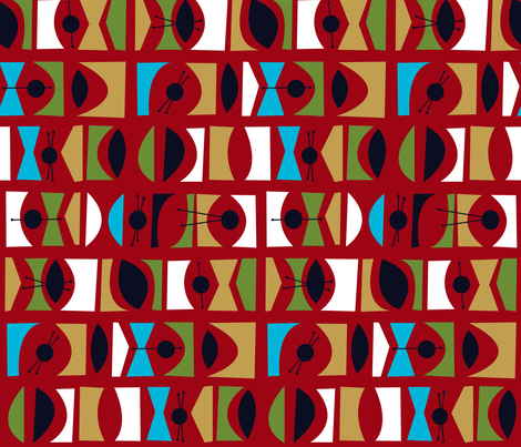 Tromen - Red fabric by theaov on Spoonflower - custom fabric