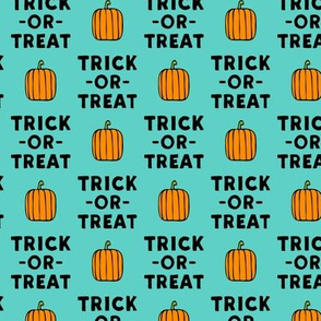 (small scale) trick or treat - stack teal - halloween - LAD19BS