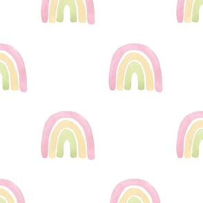 pastel pink rainbow