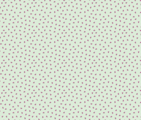 Little water melon slices sweet summer fruit pink mint fabric by littlesmilemakers on Spoonflower - custom fabric