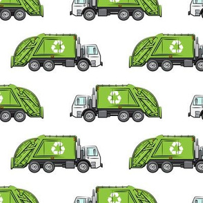 Recycle Trucks - Recycling Truck Garbage Truck Green -  LAD19