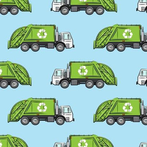 Recycle Trucks - Recycling Truck Garbage Truck Green - blue - LAD19
