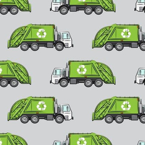 Recycle Trucks - Recycling Truck Garbage Truck Green - grey  - LAD19